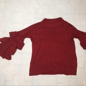 Adorable ruffle sleeve sweater